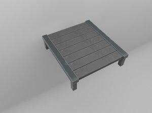 3D antique table