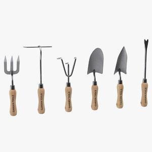 garden hand tools set 3D
