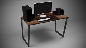3D pc desk 1 model