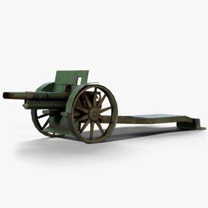 skoda houfnice vz14 cannon 3D