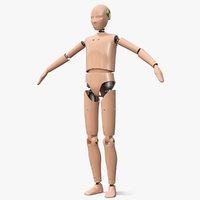 teenager crash test dummy 3D