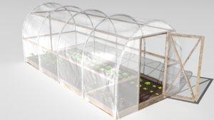 3D plastic greenhouse