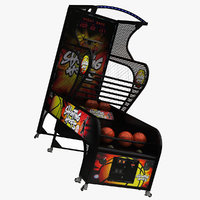 basketball arcade machine 3D model