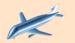 airbus beluga solid assembly 3D model