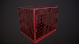 cage - red 2k 3D model
