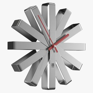 realistic wall clock umbra 3D model