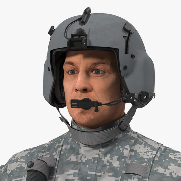 helicopter pilot rigged camo model