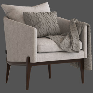 coco republic miller chair 3D