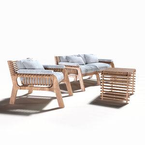 parametric chair furniture 3D