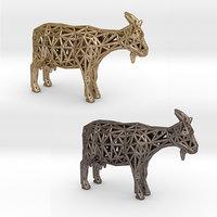 3D domestic goat animal