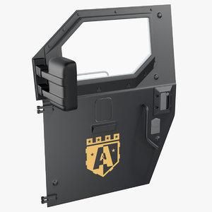 3D armored truck door model