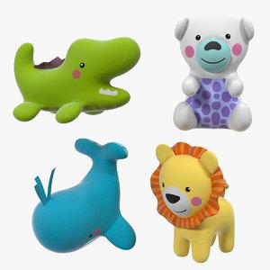 3D model baby plastic animal toys