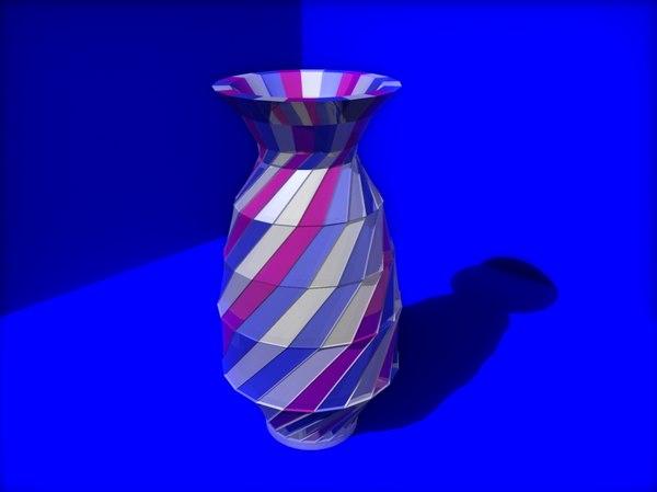 3D multi-colored vase model