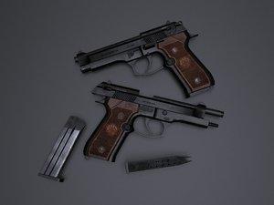 beretta m92 3D model