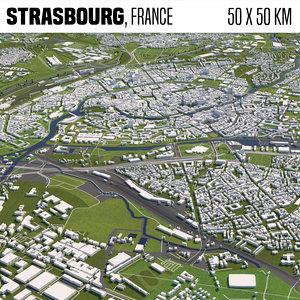 france strasbourg 3D model