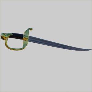 3D french antique sword model