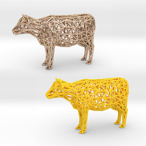 3D domesticated cattle animals