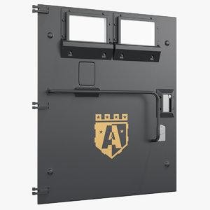 3D armored door