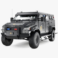 3D armored swat truck pit-bull model