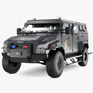 3D armored swat truck pit-bull model