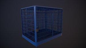 cage - blue 2k model