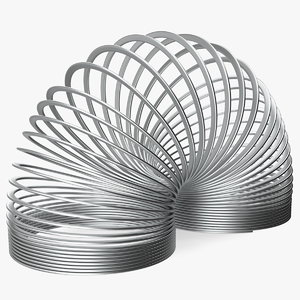 3D metal toy spring curved