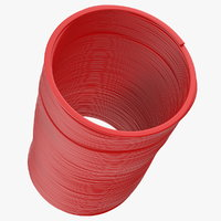 Plastic Slinky Toy Spring Red