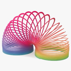 rainbow slinky toy spring 3D model