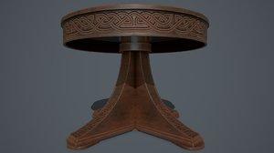3D model pbr antique table