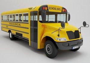 school bus 3D