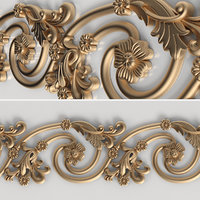 3D model carved molding | Bg-026