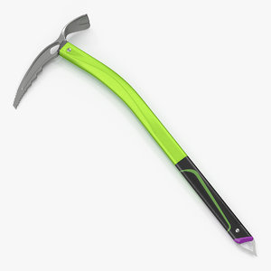 3D ice axe climbing tool model