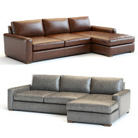 maxwell leather sofa sectional model