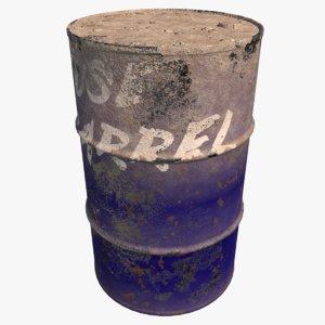 3D barrel old