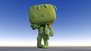 3D custom pop zombie living model