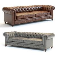 kensington leather sofa 3D model