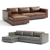3D maddox leather sectional sofa model