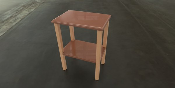 3D simple end table