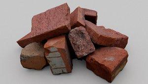 3D brick pile tiny