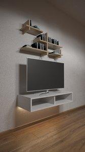 3D model tv shelf