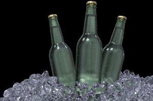 3D model iced beer
