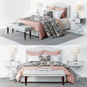3D pottery barn raleigh bed