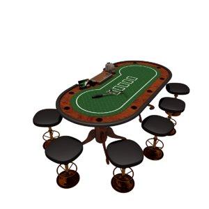 table poker 3D model