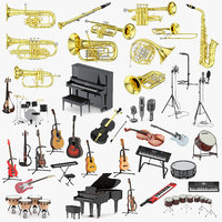 39 music modeled 3D model