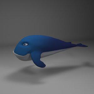 whale appealing 3D model