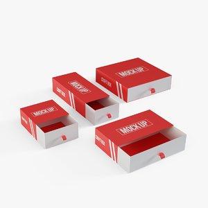 cardboard gift box model