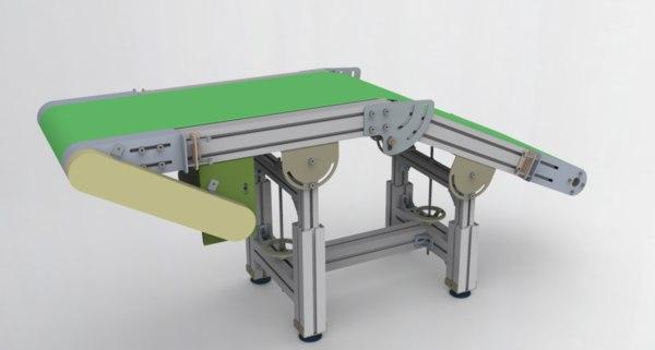 height angle adjustable conveyor 3D model