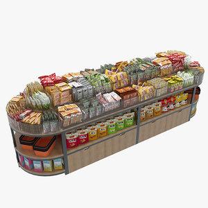 food display rack 1 3D model