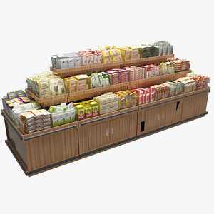 3D food display rack 2
