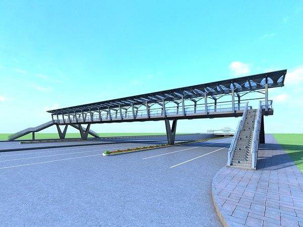 bridge foot footbridge 3D